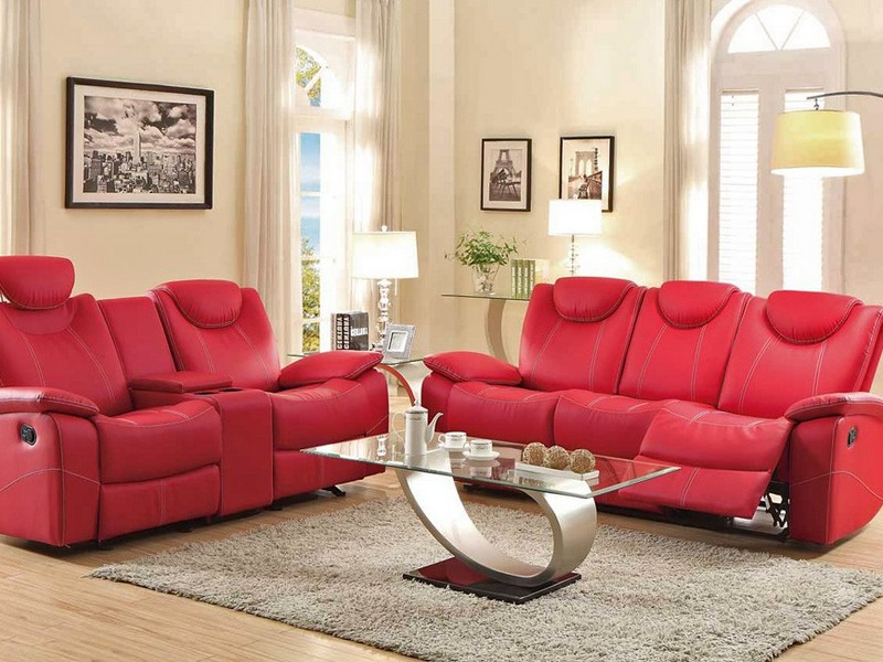 Red Reclining Sofa Sets