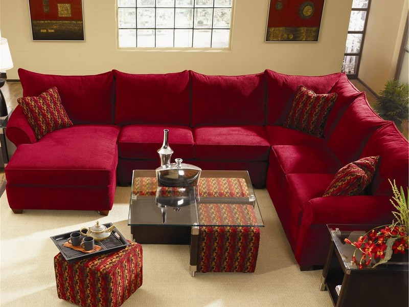 Red Sectional Sofa With Recliner