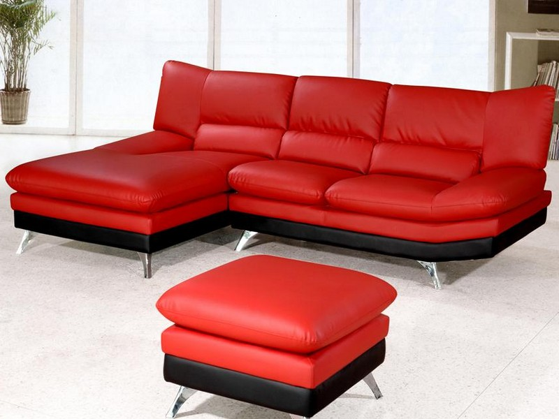Red Sectional Sofas With Chaise