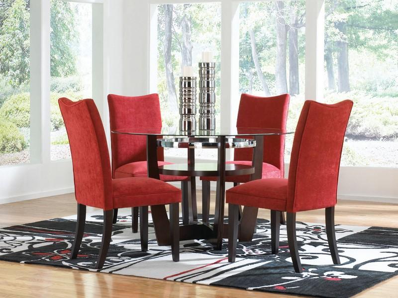 Red Velvet Dining Room Chairs