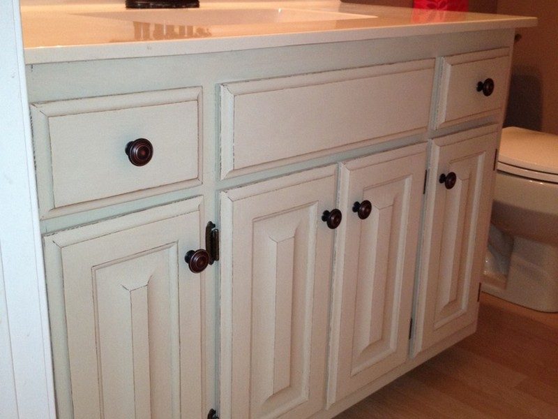 Refinish Bathroom Vanity Cabinets