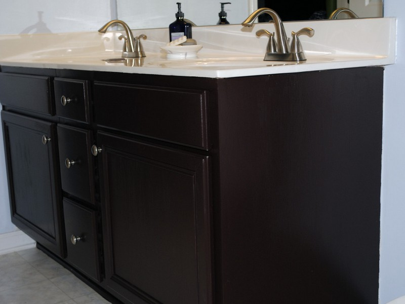 Refinishing Bathroom Cabinets Paint