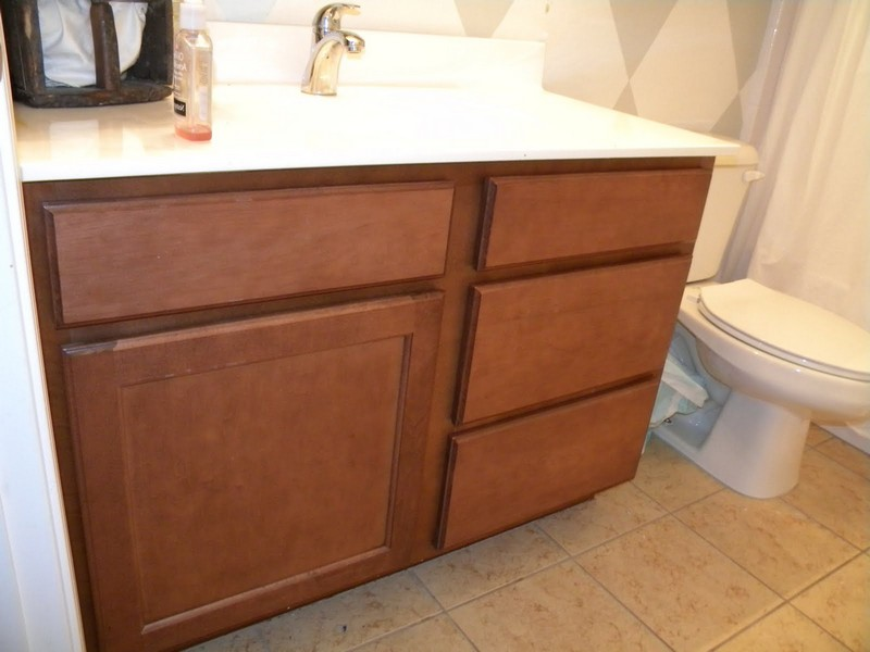 Refinishing Bathroom Vanity Cabinet