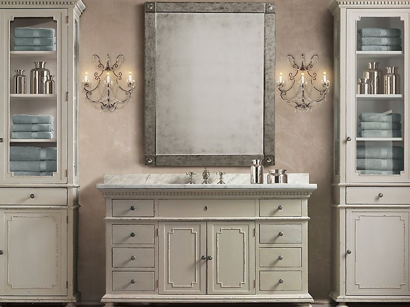 Restoration Hardware Bathroom Vanity Knockoff