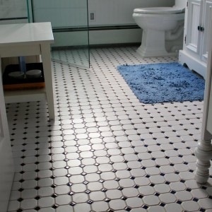 Retro Bathroom Floor Tiles