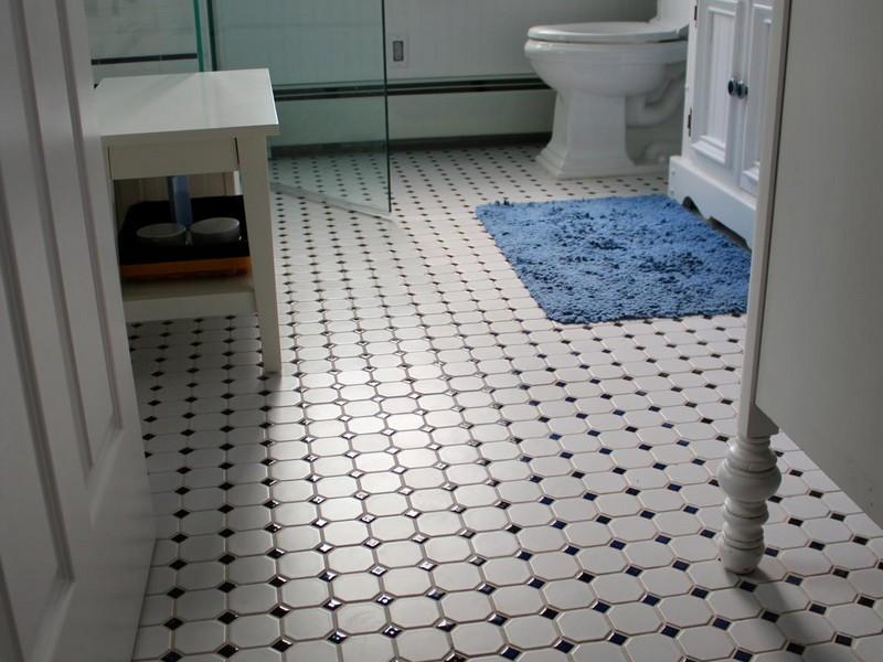 Retro Bathroom Floor Tiles