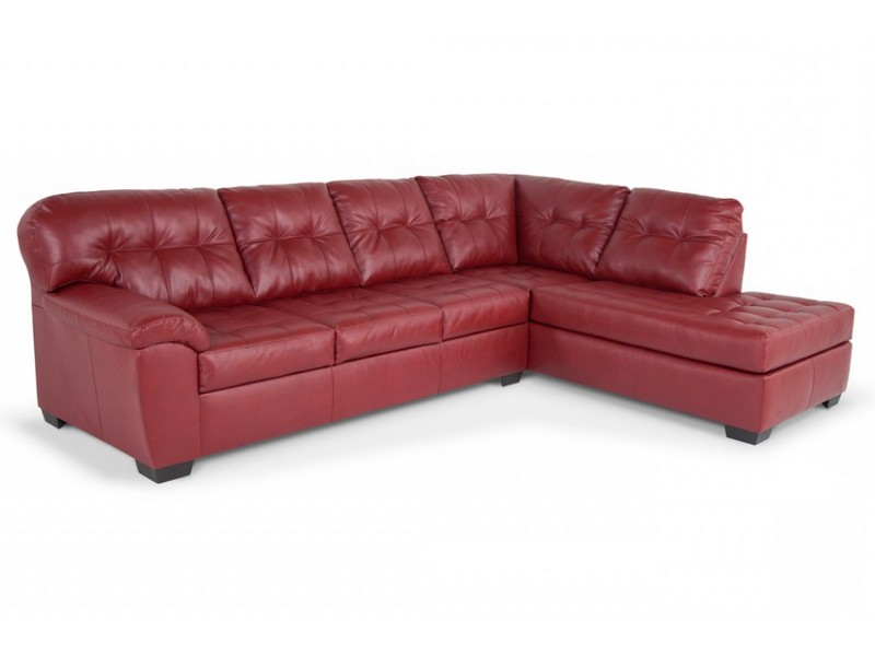 Right Arm Facing Leather Sectional