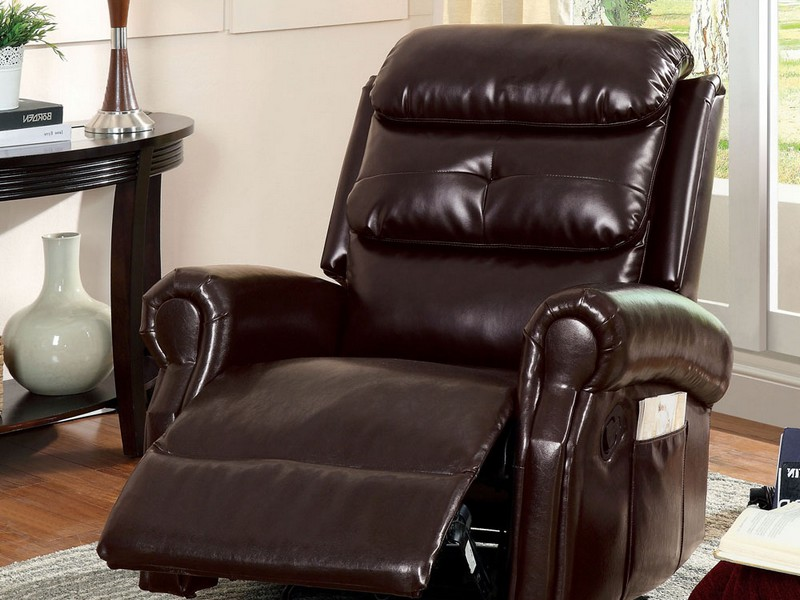 Rocker Glider Recliner With Ottoman