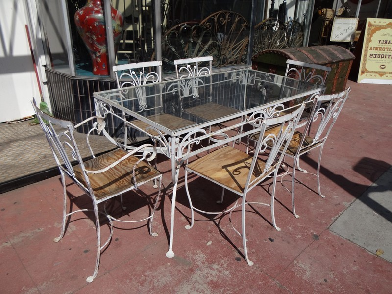 Rod Iron Chairs Outdoor