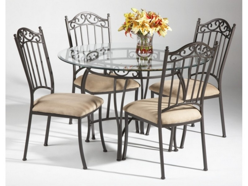 Rod Iron Dining Chairs