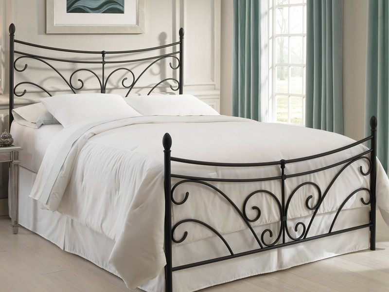 Rod Iron Headboard Black