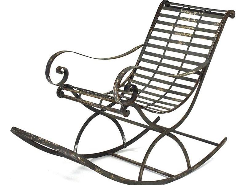 Rod Iron Rocking Chairs