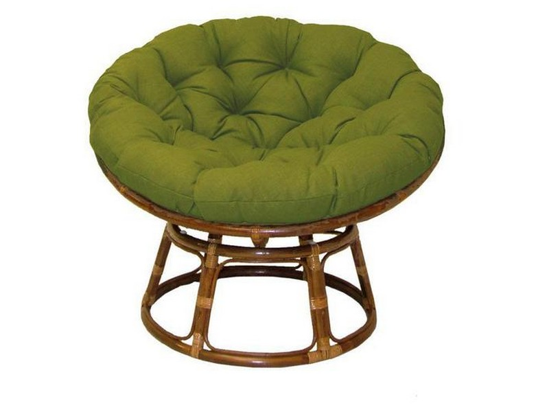Round Bamboo Chair With Cushion