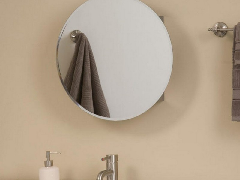 Round Bathroom Mirror Cabinet