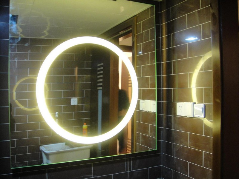Round Bathroom Mirror With Light
