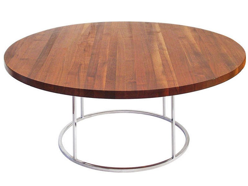 Round Butcher Block Table Top
