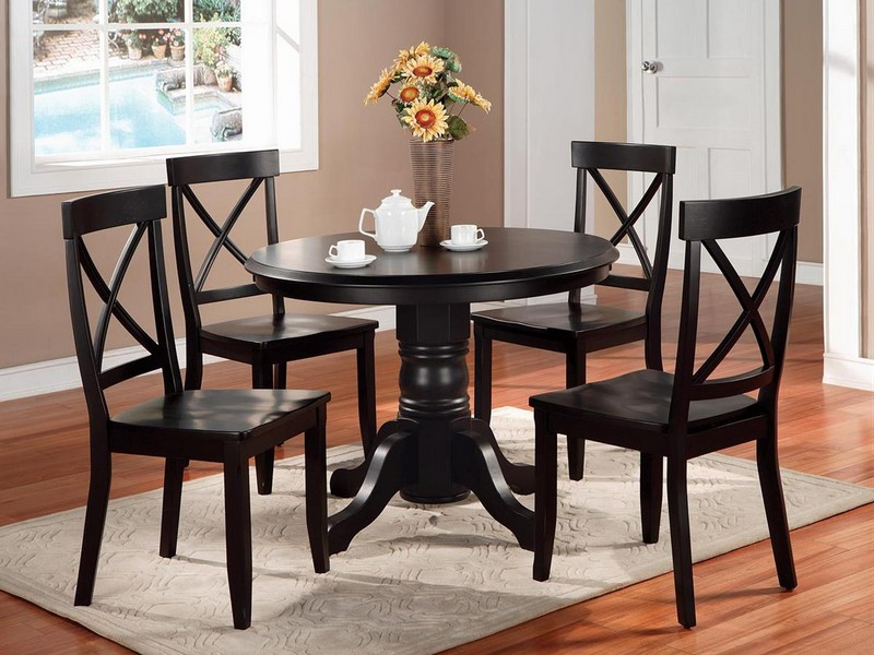Round Dinette Table With Leaf