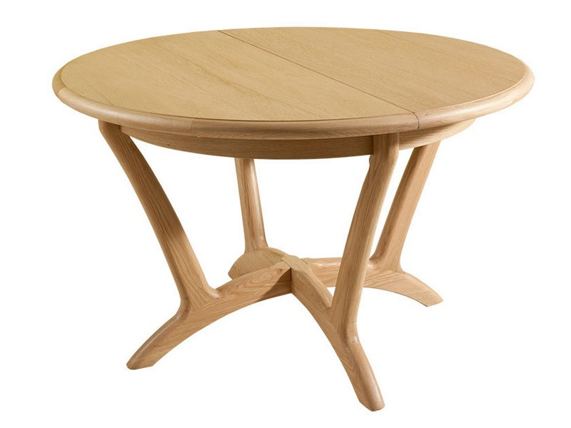 Round Dining Table With Extension Leaf