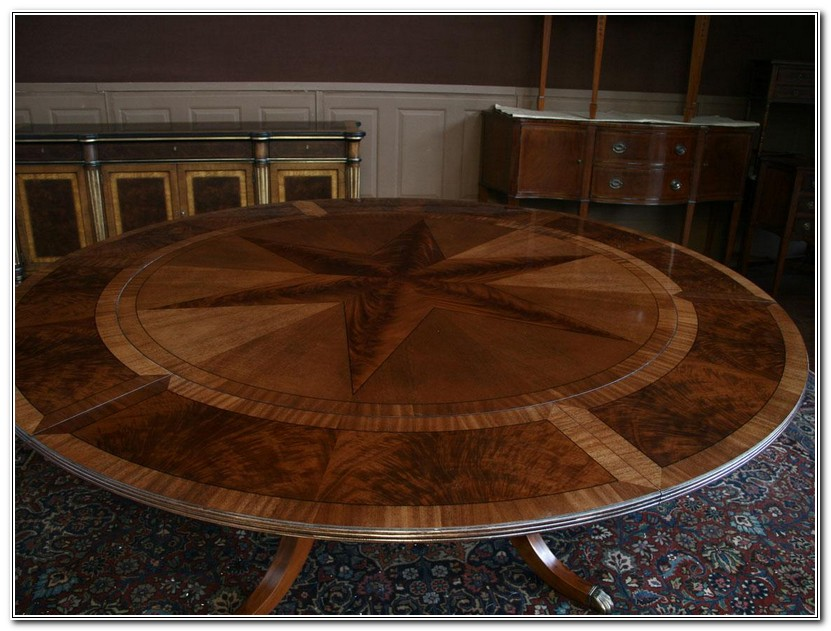 Round Dining Table With Perimeter Leaves