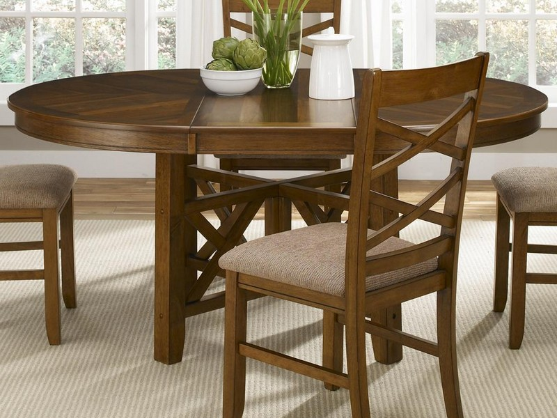 Round Dining Tables With Leaf