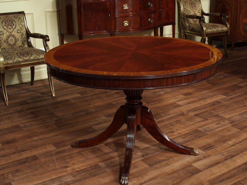 Round Dining Tables With Leaves
