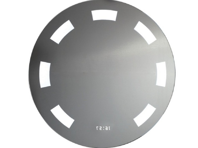 Round Illuminated Bathroom Mirror