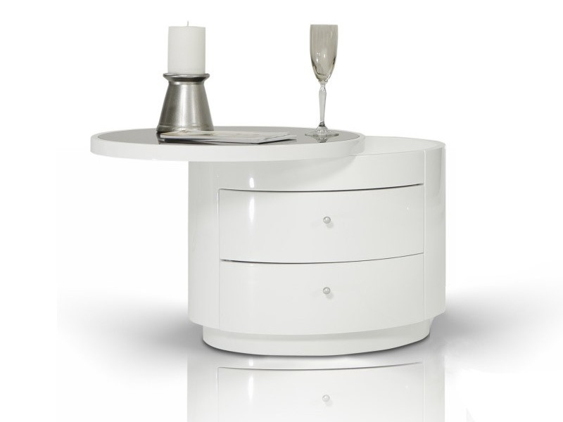 Round Nightstands With Drawers