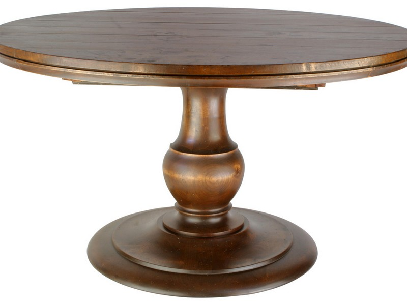 Round Pedestal Dining Table With Leaves