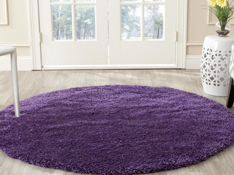 Round Purple Rug
