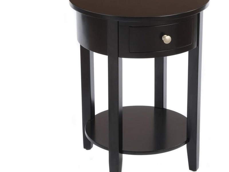 Round Side Tables With Drawers