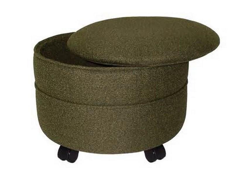 Round Storage Ottomans