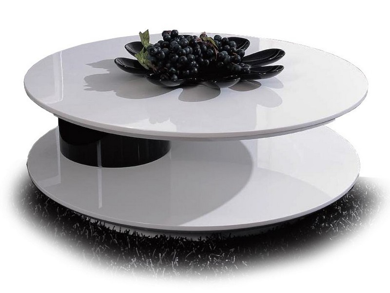 Round Swivel Coffee Table