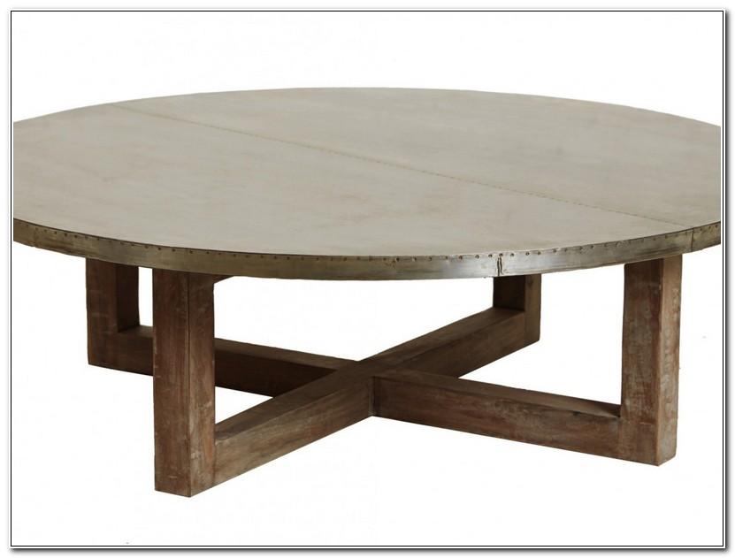 Round Zinc Coffee Table