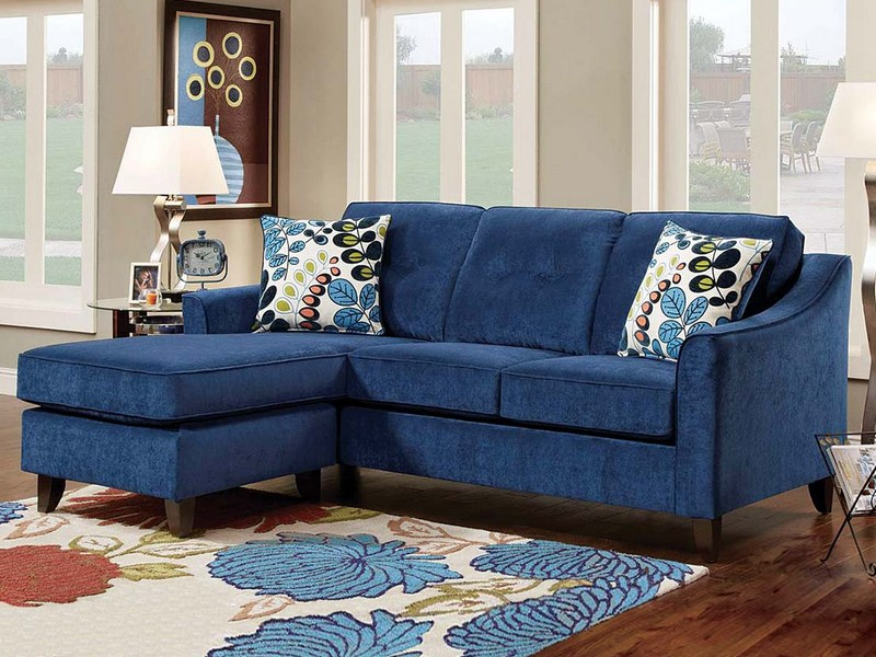 Royal Blue Sectional Sofa