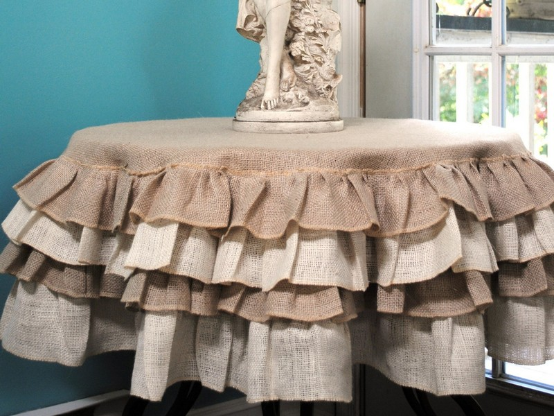 Ruffled Burlap Table Skirt