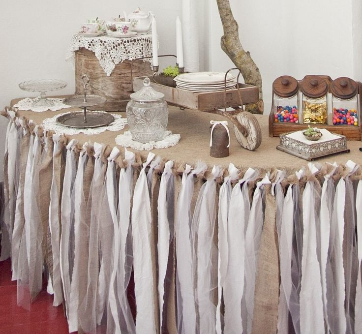 Ruffled Burlap Tablecloth Diy
