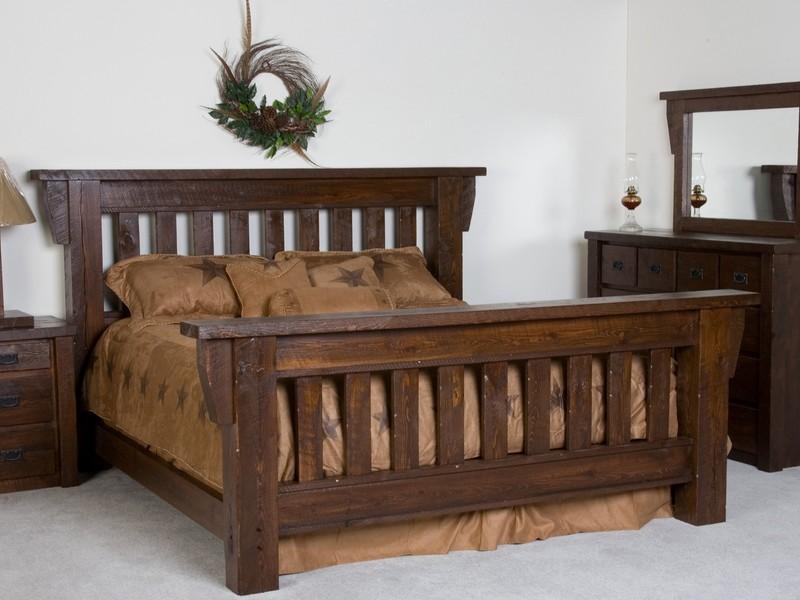 Rustic Barn Wood Bed Frames