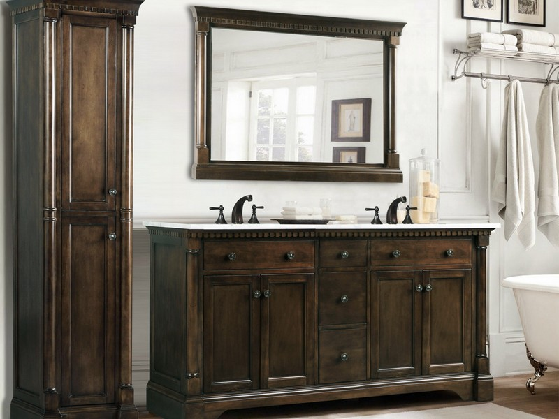 Rustic Bathroom Double Vanities