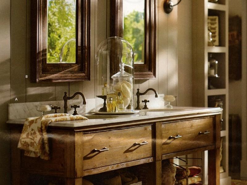 Rustic Bathroom Mirror Cabinet