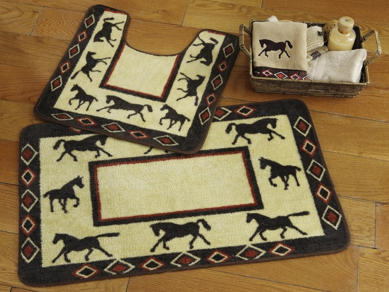 Rustic Bathroom Rug Sets