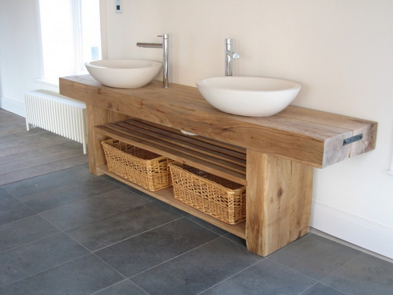 Rustic Bathroom Sink Unit