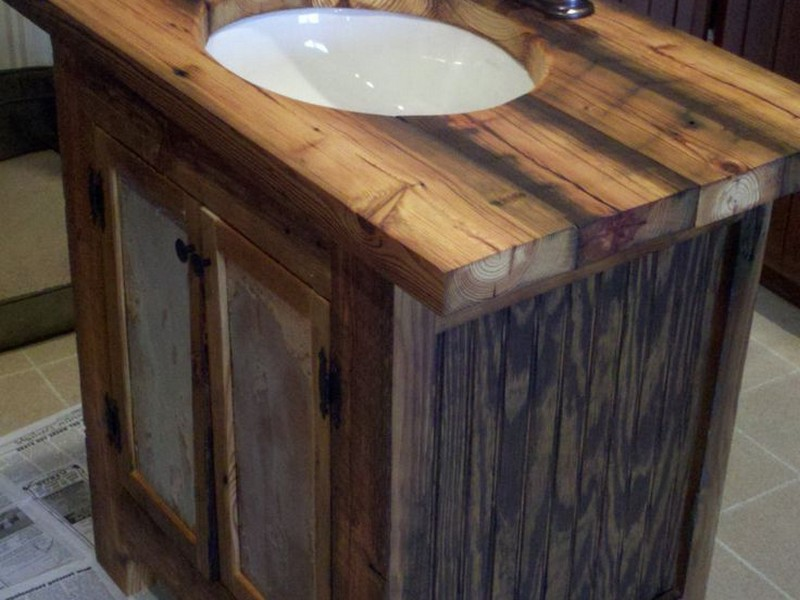Rustic Bathroom Sinks And Vanities