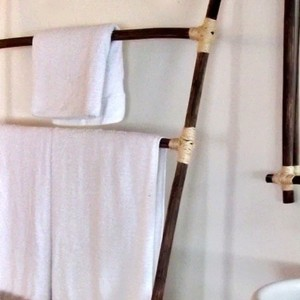 Rustic Bathroom Towel Holders
