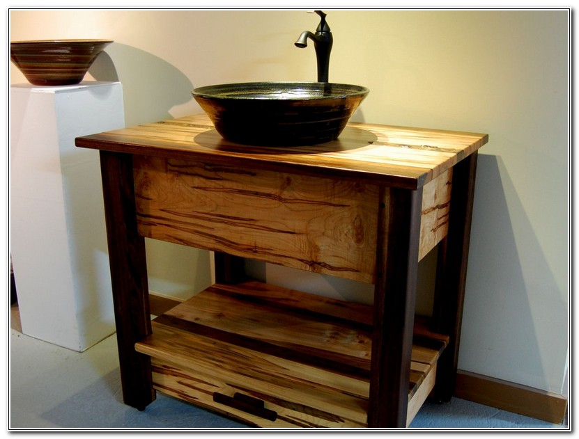 Rustic Bathroom Vanities Vessel Sinks