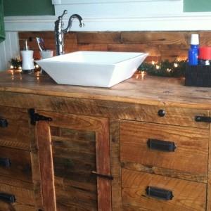 Rustic Bathroom Vanity With Vessel Sink
