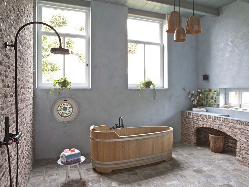 Rustic Beachy Bathrooms