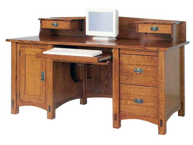 Rustic Corner Desk With Hutch