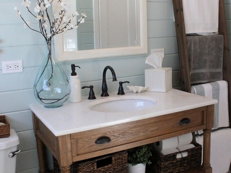 Rustic Farmhouse Bathroom Vanity