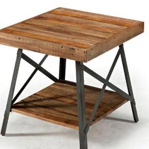 Rustic Metal And Wood End Tables