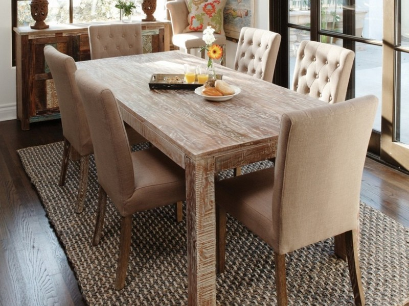 Exciting Reclaimed Teak Dining Table Design Small Dining Room Interior